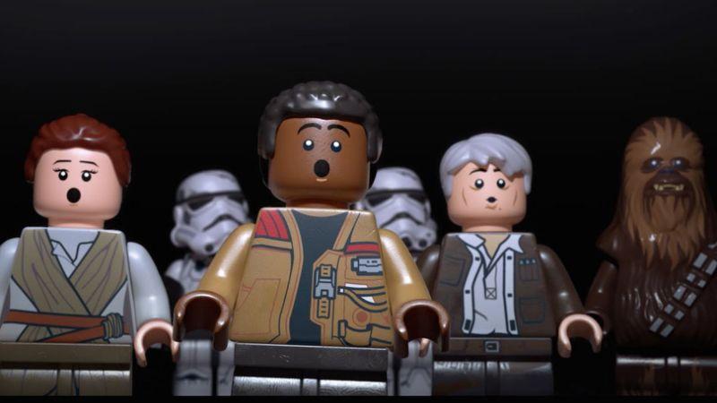 Lego Star Wars figures looking surprised